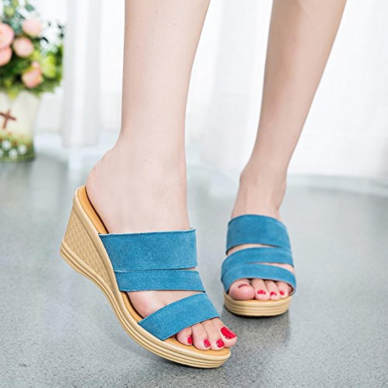 YMFIE Sandalias y Zapatillas de Cuña Antideslizantes Cómodas Ocasionales de la Manera del Verano Zapatos de Playa... -