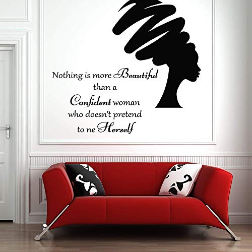 Tribal Afrikanische Frau Aufkleber Zitat Schöne Afro Girl Home Decor Wandkunst Inspirational Quote Wand Fenster Decor Mädchen Schlafzimmer 46X42CM - Inspirational Wand-aufkleber Quotes