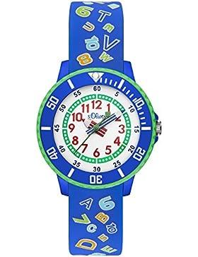 s.Oliver Unisex-Armbanduhr Analog Quarz Silikon SO-3204-PQ