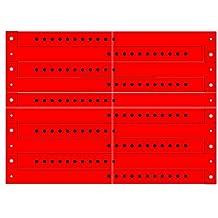ClubKing - Pulsera de vinilo (50 unidades), color rojo