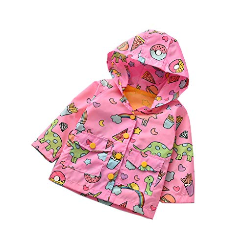738d3db0b42ea5 Giacca Bambina Primaverile Topgrowth Felpa con Cappuccio Ragazzo Ragazza  Dinosauro Jacket Maniche Lunghe Cartone Animato Stampato