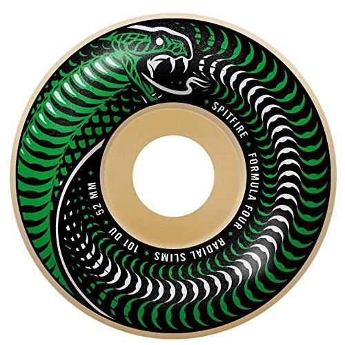 Spitfire Skateboard-Rollen Formula Four Venomous 101D Radial Slim, 4 Stück, weiß, 51mm