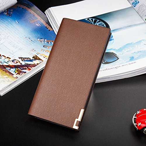 Borse Portafogli Creative Wallets Handbags Packs Portafogli Portafogli Lunga,Blu Marrone
