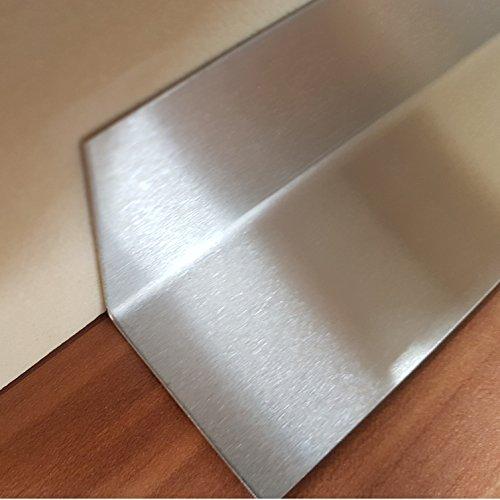 1x Innen Winkel Edelstahl V2A K240 geschliffen 30x30x2500mm 1,5mm stark,Dekor Innen Winkelprofil einseitig mit Schutzfolie 250cm lang