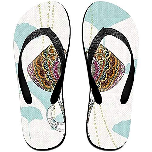 Zapatillas Unisex Non-slchanclas IP Patrón de Cabeza de Elefante Sandalias de Playa geniales