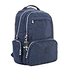 Gurscour Womens Girls Nylon Bags Travel Schoolbag Laptop Backpack Rucksack Travel Daypack 1322a-blue