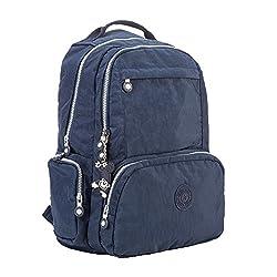 Gurscour Womens Girls Nylon Bags Travel Schoolbag Laptop Backpack Rucksack Travel Daypack 1322a-blue