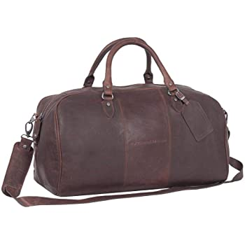 de en Cuir Voyage Chesterfield William Sac Brown HqA8UU