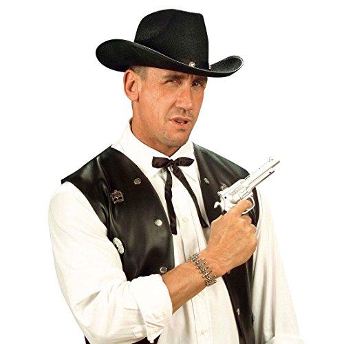 Cowboy Krawatte Western Fliege schwarz Wilder Westen Schleife Wild West Binder Sheriff Tie Fasching Kostüm Accessoires