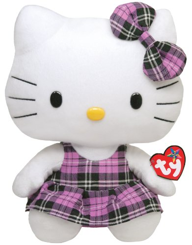 Hello Kitty - Tartan Skirt Purple Plush - TY Beanie - Hello Kitty - 25cm 13""