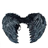 YOEEKU Angel Wings Feather photo Photographie Props Props Costumes Kits (45*35, Noir)