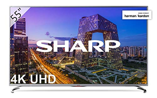 Sharp LC-55UI8762ES - Smart TV 55' 4K Ultra HD (LED, 3 HDMI 2.0 admiten 2160p a 60Hz, puerto USB 3.0, HDR+, DVB-C, DVB-S, DVB-S2, DVB-T MPEG-2, DVB-T MPEG-4 (H.264), DVB-T2), color gris