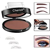 Wasserdichte Augenbraue Stempel Pulver Perfekte Augenbraue Power Seal,3 Paare Eyebrow Stempel Eyebrow Stamp Perfekt für Anfänger (Braun)