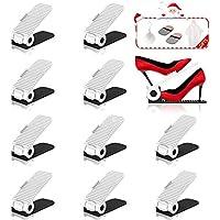 HOBFU Réglable à Chaussures,4 Niveaux de Hauteur réglable Supports à Chaussures, Chaussure Organisateur, Space Saver Rack Stockage Chaussures, 10PCS