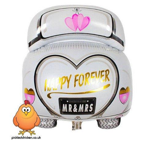 Preisvergleich Produktbild Happy Forever MR & MRS Hochzeit Auto Folie Luftballons für Hochzeit Party Dekoration Geschenk