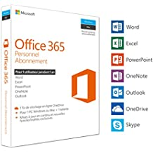 Microsoft Office 365 Personnel | 1 PC Windows ou Mac + 1 tablette | 1 an | Box