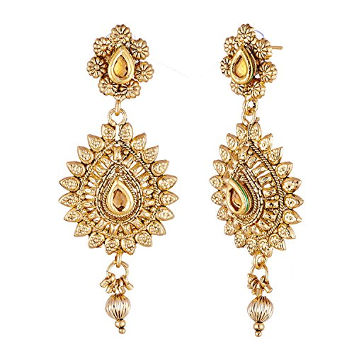APARA Gold Plated Necklace Maang Tikka Jewellery for Women and Girls