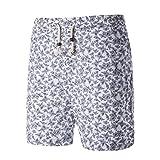 Shorts pour homme , Malloom Été Pour des hommes Élégant Slim Casual Short Sablonneux Plage sport Pantalons imprimés Shorts (XL, Gris)