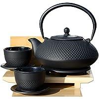 Sottopentola tazze & Arare Tetsubin stile giapponese in ghisa nero Hobnail teiera bollitore
