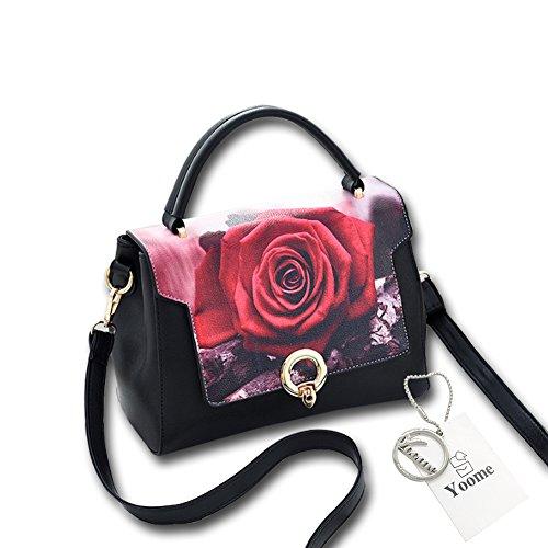 Borsa a tracolla elegante da donna di modo di Yoome Borsa multifunzione a sacco a tasca Crossbody Messenger Bag - Scarpe Rosa