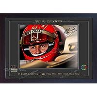 S&E DESING Michael Schumacher SIGNED Autograph Motor Sport Formel 1Foto, gerahmt (MDF)