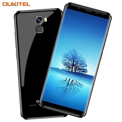Oukitel K5000 4G Smartphone Ohne Vertrag mit Dual SIM 5000mAh Akku 5.7 Zoll (18:9 Verhältnis Vollbild) Double Kameras (21MP+16MP) 64GB ROM 4GB RAM Octa Core Smartphone Fingerabdruck-Schwarz