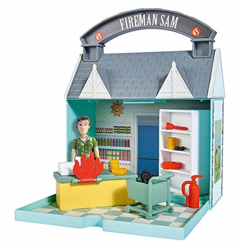 feuerwehrmann sam supermarkt Simba 109251031 - Feuerwehrmann Sam Dily's Supermarkt mit 2 Figuren