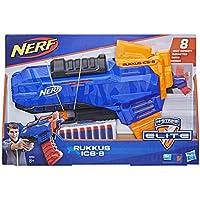 Nerf- Elite Rukkus ICS, Blaster con Dardi e Caricatore a Scorrimento Verticale, E2654EU4