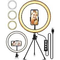ELEGIANT Luce per Selfie, 10,2'' Luce ad Anello LED con Treppiede Telecomando 160 LED 3 modalità 11 Livelli per 2-3,2 Pollici iPhone 11 XS Max XR x 8s Samsung Galaxy s10 s8 Huawei P30 P20 PRO Xiaomi
