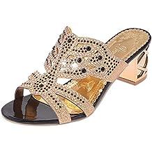 LUCKYCAT Amazon, Sandales d été Femme Chaussures de Été Sandales à Talons  Chaussures Plates 4fe4ea61ad9