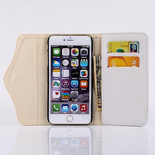 "inShang Hülle für Apple iPhone 6 Plus iPhone 6S Plus 5.5 inch iPhone 6+ iPhone 6S+ iPhone6 5.5"", Cover Mit Reißverschluss + Errichten-in der Tasche + Pirate Ship Decoration, Edles PU Leder Tasche Skin zipper ship white"