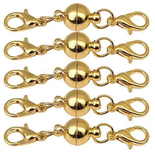 Baoblaze 5er Pack Karabiner Magnetverschluss Verschluß Schmuck Magnetverschlüsse Armband Halskette Verschluss Magnet Kettenverschluss - 8mm