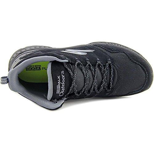 Skechers Go Walk Outdoors Passage Femmes Daim Chaussure de Randonnée Black