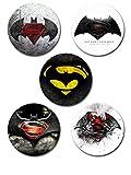 #8: EFW Button Batman Superman Badge - Pack of 5
