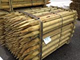 5-Pack-Rounded-stakes-18m-x75mm-Pointed-Fencing-Posts-6ft-high-Tanalised-timber