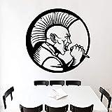 zqyjhkou Musicien Sticker Mural pour Petits Garçons Chambre Décoration Amovible Vinyle Stickers Autocollant Imperméable À l'eau Art Décor À La Maison Affiche M 30 cm X 30 cm...