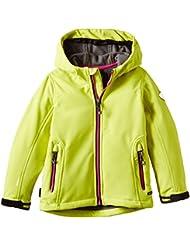 Killtec Peninsula Mini - Cazadora de tejido Soft Shell para niños, primavera/verano, infantil, color verde - lima, tamaño 4 años (104 cm)
