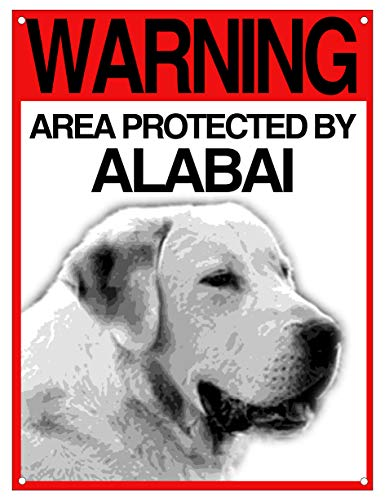 Warning Area Protected by Lovelytiles Dobermann Schild ATTENTAL Hund