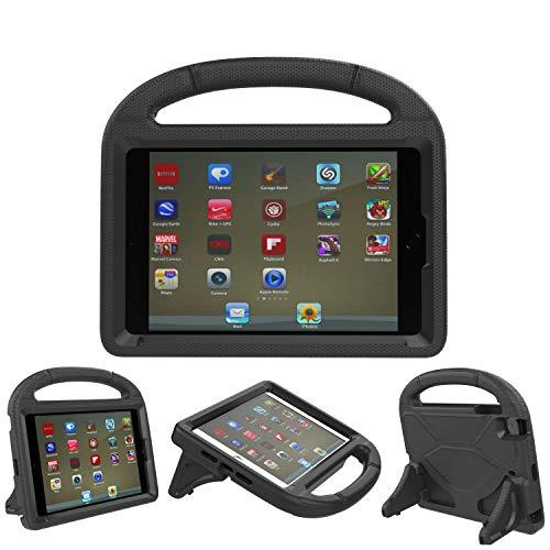 iPad 9,7Schutzhülle, iPad 9,7Cover für Kids-threej leicht Gewicht tragbar stoßfest Super Schutz Griff Stand Cover für iPad 9,72018/2017 iPad 9.7-inch schwarz