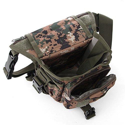 Wisamic Tactical Hip Bag Hüfttasche Beintasche,Sport Taktische Airsoft Militär Tropfen Bein Schenkel Bag Dienstprogramm Gürtel Tasche Beinbeutel Grün