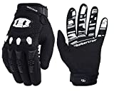Seibertron Dirtpaw Silicone Antidérapant Cyclisme Vélo Motocross Course BMX MX ATV VTT Gants Plein-Doigt Gants de Moto Femmes Homme Respirable Écran Tactile pour Smartphones GPS Adulte Black XS