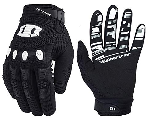 Seibertron Dirtpaw Unisex rutschfeste Bike Bicycle Cycling/Radsport Racing Mountainbike Handschuhe für BMX MX ATV MTB Motorcycle Motocross Motorbike Road Off-Road Race Touch Screen Gloves Black L