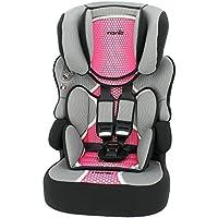 Nania Beline Group 1/2/3 Highback Booster Car Seat, Pink - ukpricecomparsion.eu