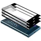 zanasta [3 Stück Displayschutz Glass Sony Xperia XZ Premium Schutzfolie aus gehärtetem Glas [Vollständige Abdeckung] Anti-Kratzer Screen Protector (3D Full Cover) Schwarz