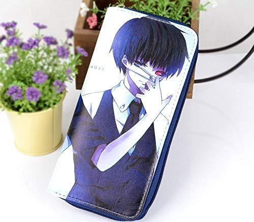Pallima Geldbörse Geldbeutel Portemonnaie Portmonee Brieftasche Tokyo Ghouls Wallet Zipper Mittellange Geldbörse Anime 19.5x9cm D (Wallet Zipper Anime)