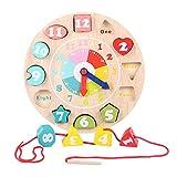 Giocattoli per bambini Building Blocks Grande allacciatura Bead Bead Stringing Set For Kids for i più piccoli educativo tesatura Toy-legno Forma Colore Ordinamento Clock Giocattoli educativi per l'app