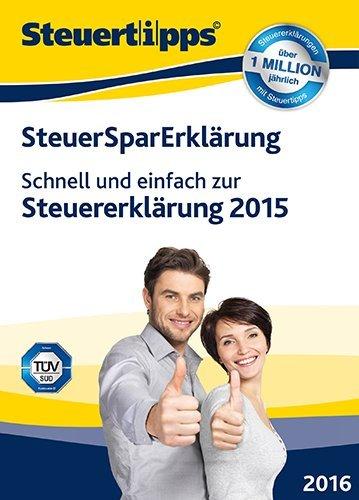 SteuerSparErklärung 2016 (für Steuerjahr 2015) [PC Download]