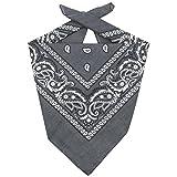 Lipodo Bandana Tuch Damen/Herren/Kinder | Kopftuch in grau aus 100% Baumwolle | Multifunktionstuch in Einheitsgröße (55 x 55 cm) | vielfältige Tragemöglichkeiten