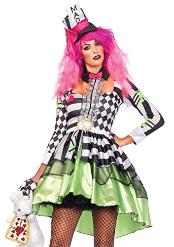 (Leg Avenue 85459 - Deliriously Mad Hatter Kostüm, Größe Medium (EUR 38))