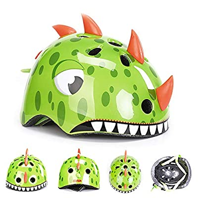 Kids Cycle Helmet,CE Certified Kids Childrens 3D Cartoon Animals Safety Helmet Cycling Skating Scooter Bike Helmets Suitable for Girls Boys Gifts S/M by YAJAN